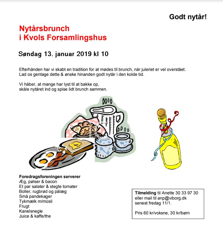 Nytårsbrunch og info om www.vibland.dk
