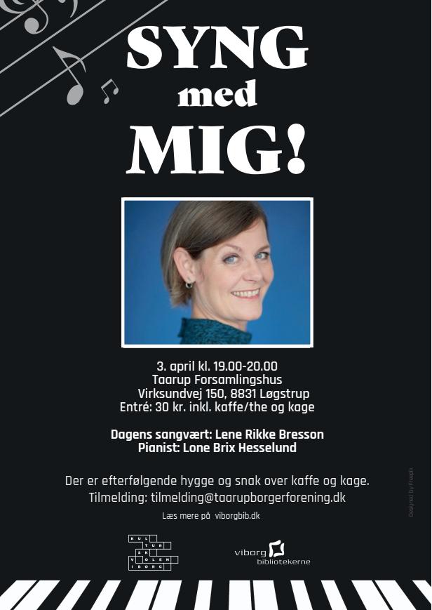 """""""Syng med mig"""" 3. april kl. 19-20 i Taarup forsamlingshus"""
