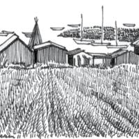 Stregtening 2 Knud landingsplads fiskerhusene